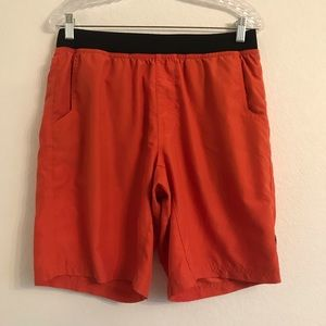 Prana mens Mojo shorts Medium orange black